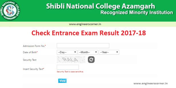 Shibli National College UG Exam Result 2017