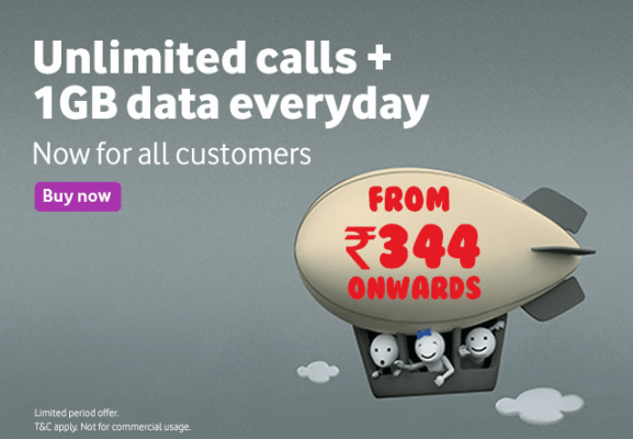 Vodafone Prepaid Unlimited Offer Rs 348 Recharge