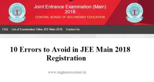 JEE Main 2018 Registration Process