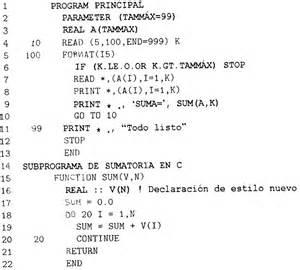 FORTRAN example