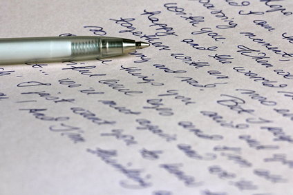 Handwritten Letter With Pen
