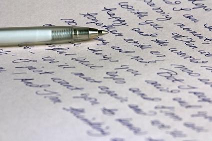 Handwritten Letter With Pen