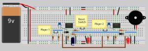 21 Quiz Buzzer Circuit Diagram