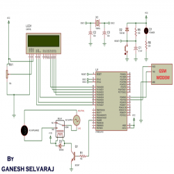 GSM Based AC Appliance Control: Circuit Diagram and Code