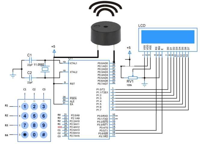 Digital Alarm Clock With 8051 89c51