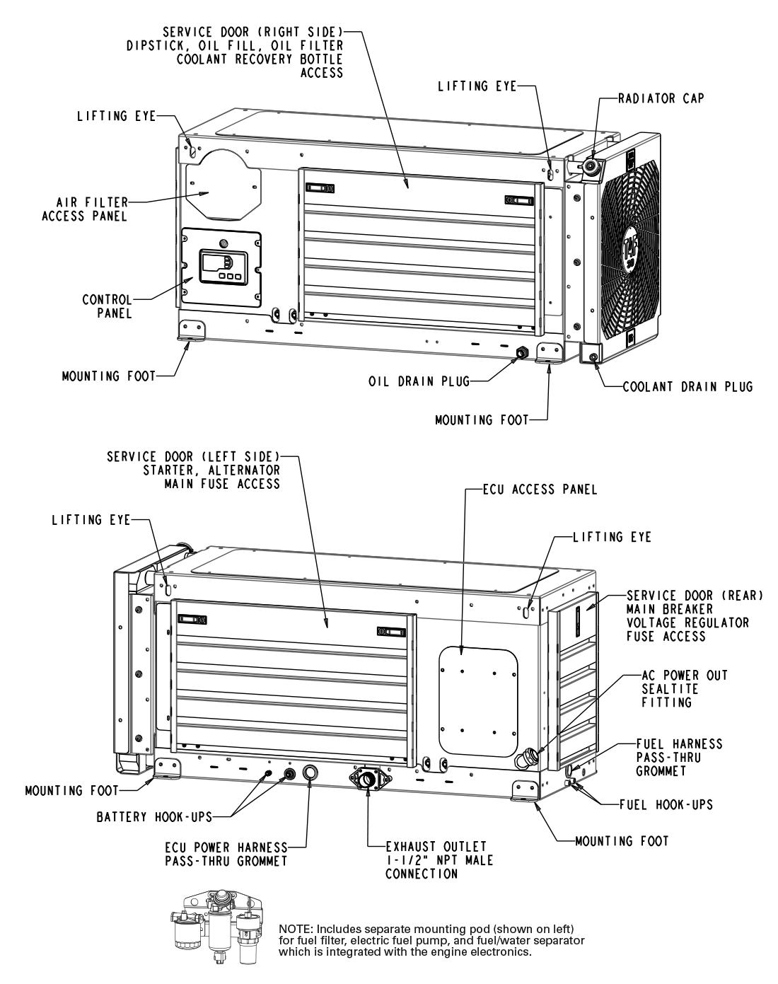 30 Kwsel Generator Details