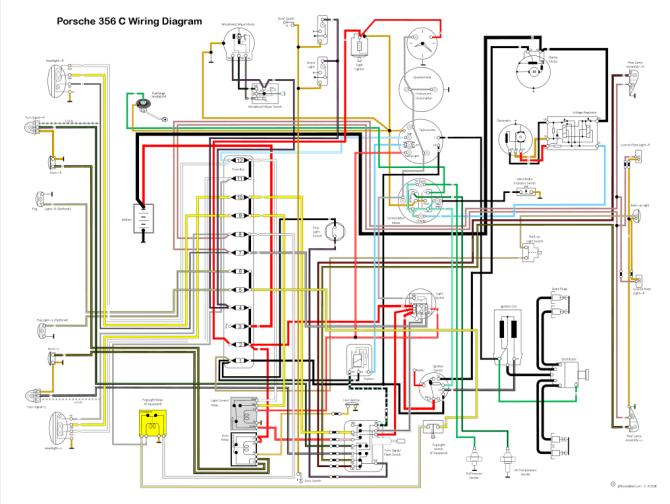 porsche 356c wiring diagram  description wiring diagrams