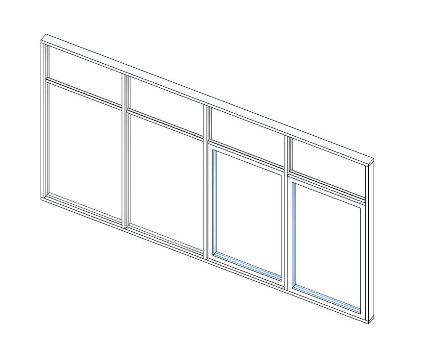 curtain wall door window