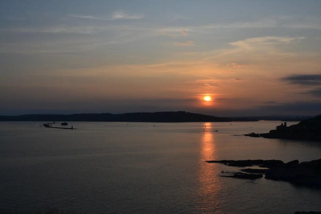 Sonnenuntergang Devon