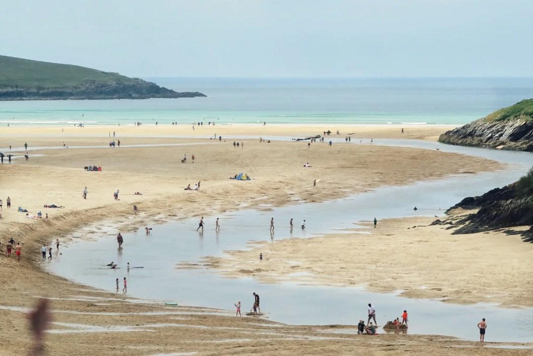 Crantock Beach, einer der schönsten Strände Cornwalls.