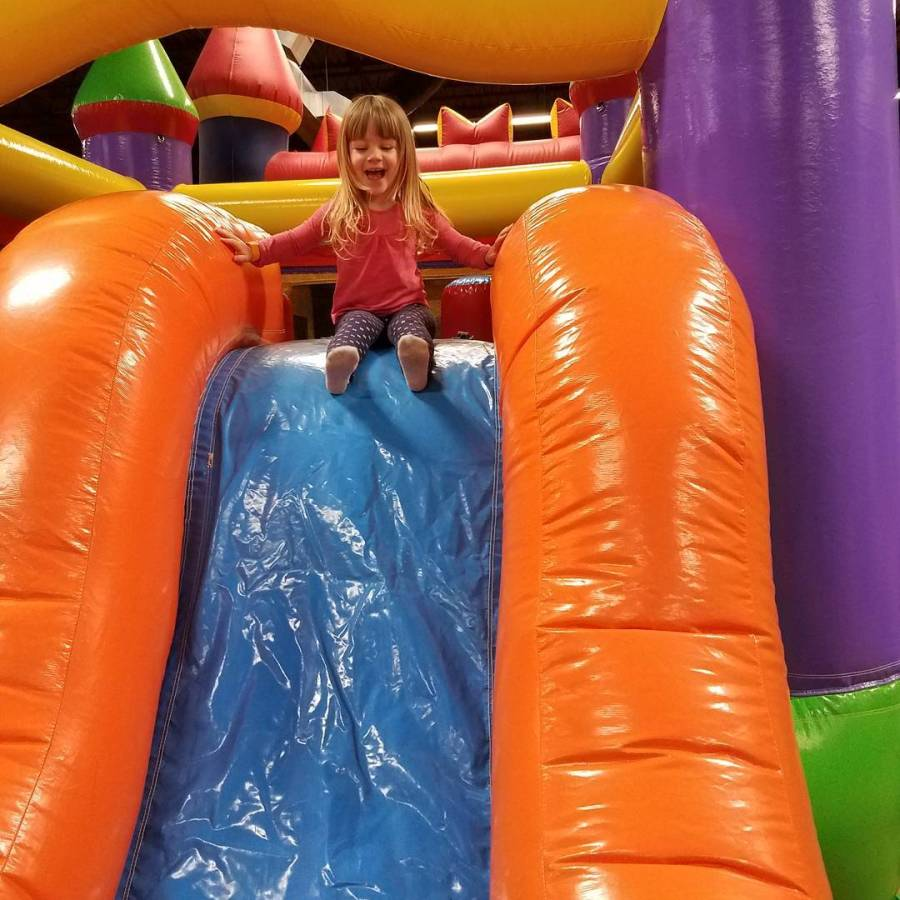 Nothing makes this girl happy like bouncing and sliding forhellip