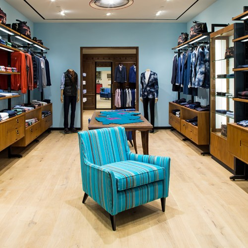 Paul Smith store interior shoot by England Studios