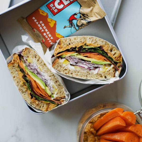 Inspiration til en vegansk madpakke