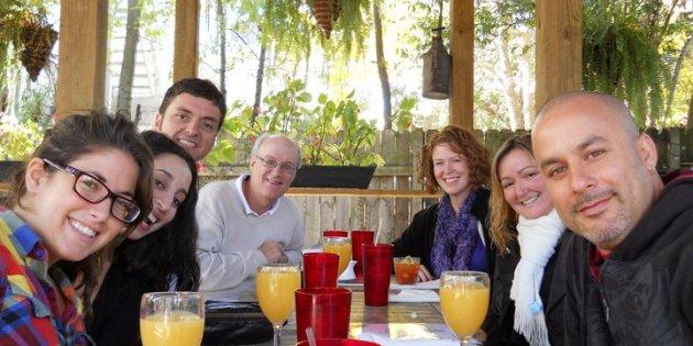 English teachers at breakfast