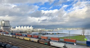 Canada Place Convention Centre and the Trains