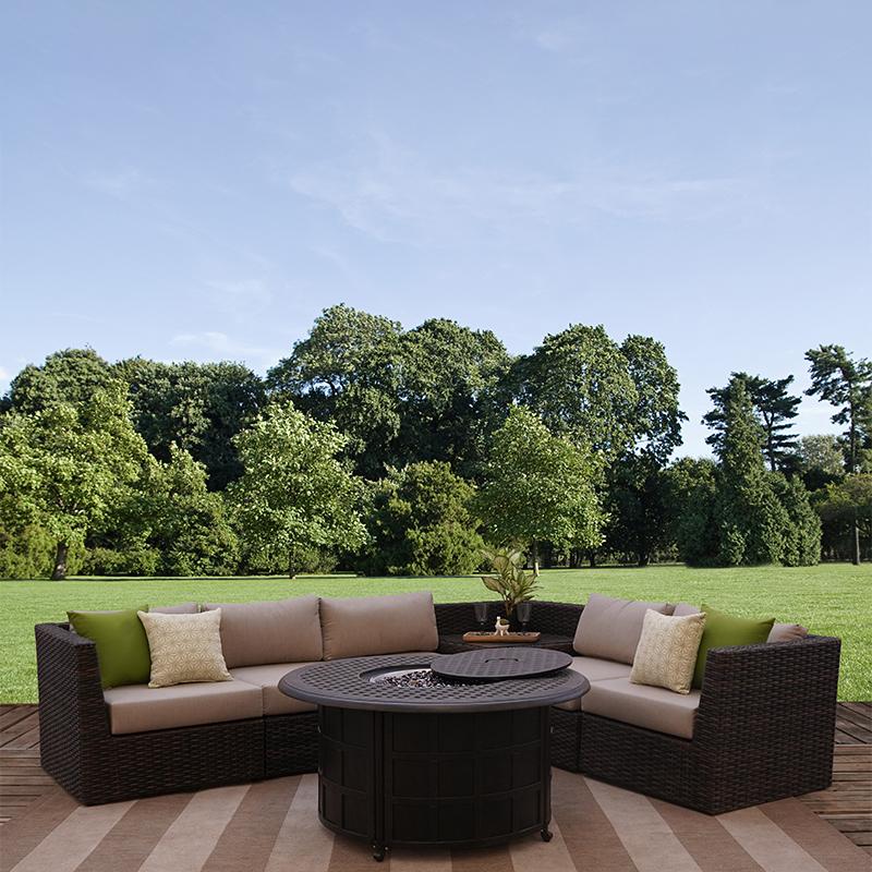 bellanova 6 piece all weather wicker outdoor patio furniture sectional sofa set
