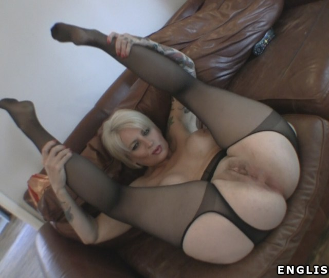 In My Sexy Suspender Pantyhose Tights Spreading My Butt Pussy While Playing With My Nylon Clad Feet In This Ass And Foot Video