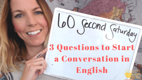 3 questions to start a conversation
