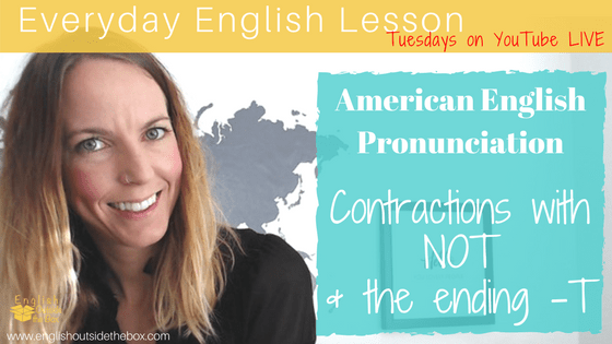 how to pronounce contractions in American English