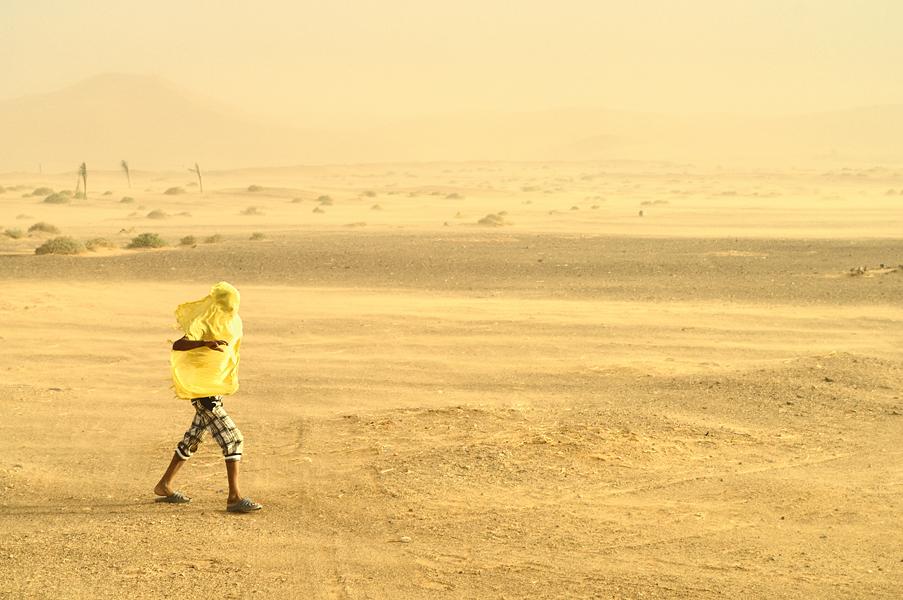 Sandstorm Sahara Desert Merzouga Morocco