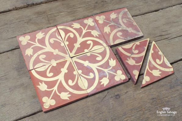 quatrefoil fleur de lis godwin floor tiles