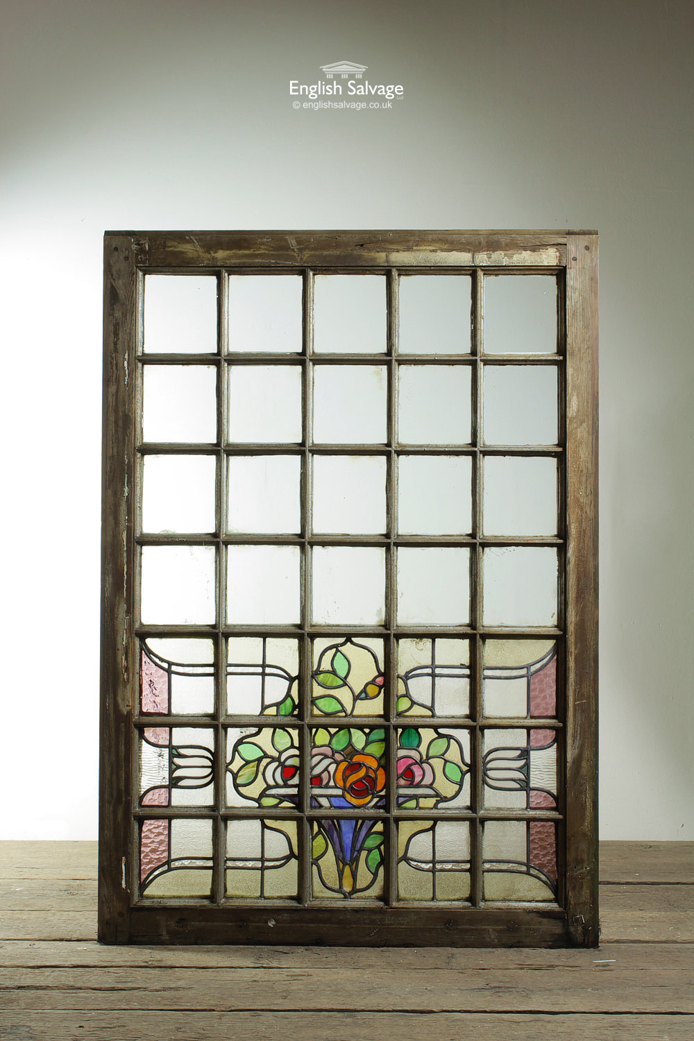 Metal Framed Stained Glass Panel Windows