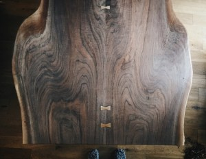 wooden & woven book matched black walnut for bespoke table project