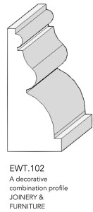 joinery and furniture profile and moulding EWT.102