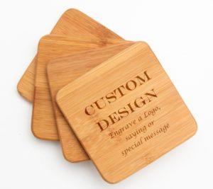 Corporate Gift Wood Custom Coasters