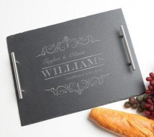 Custom Wedding Gift Slate Serving Tray
