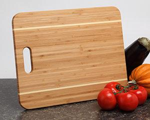 Personalized Cutting Board - Bamboo w Handle 15x12