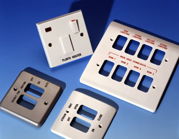 Engraved Electrical Accessories   switchplates  switches  spurs and     Electrical Accessories