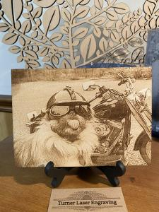 Pet Photo on Wood Plaque - Paw Prints