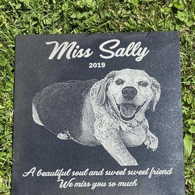Granite Pet Memorial Photo Engraved