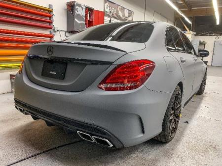 Mercedes matte gray vinyl