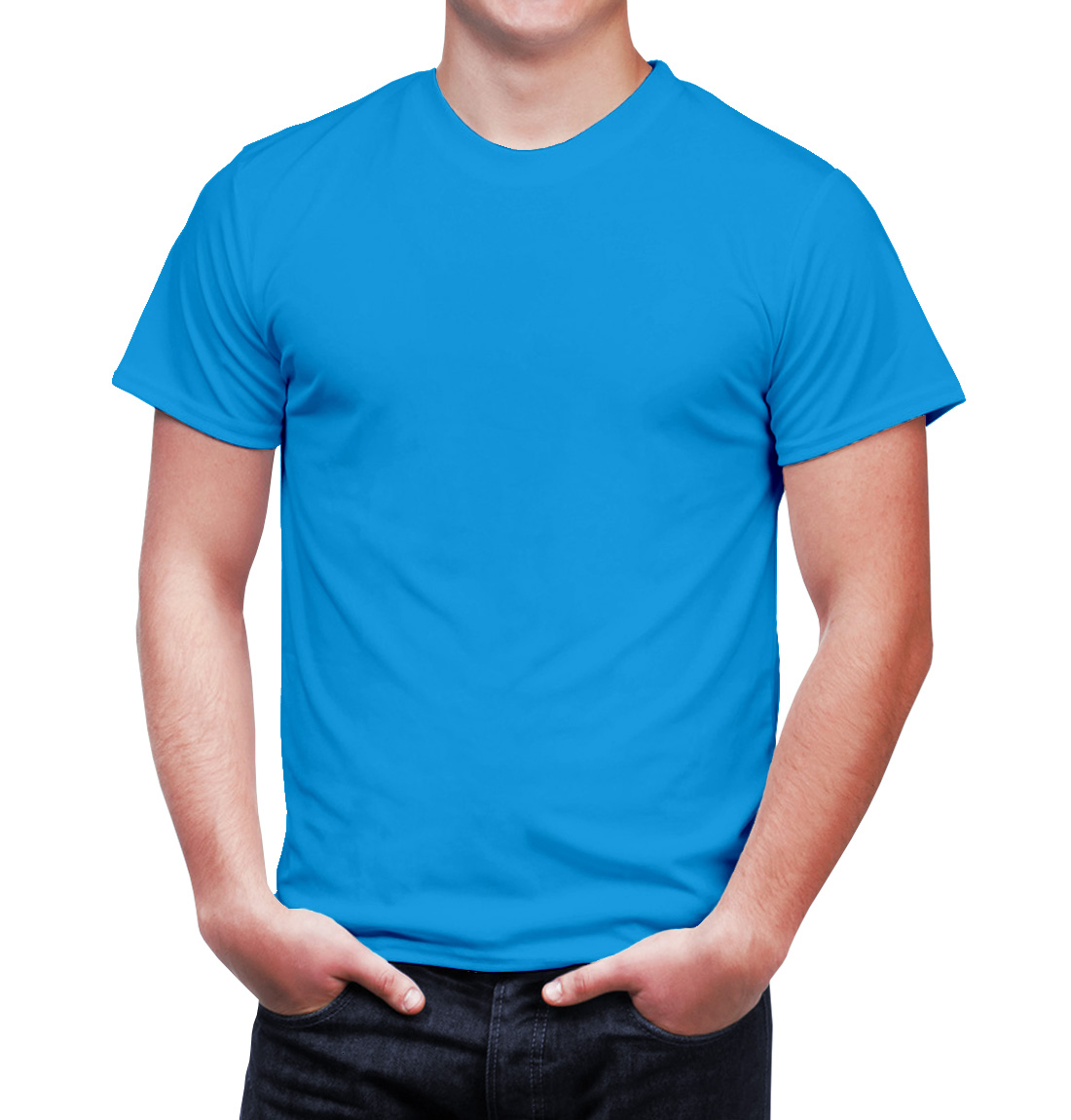 Our Mens Turquoise t-shirt is a bright blank t shirt for any occasion. Get this colorful blank t shirt for men for printing or for everyday wear.