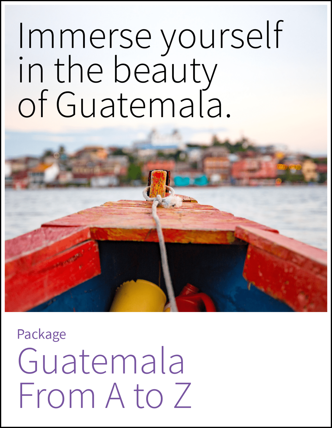 Two week package to discover Guatemala and its main attractions.