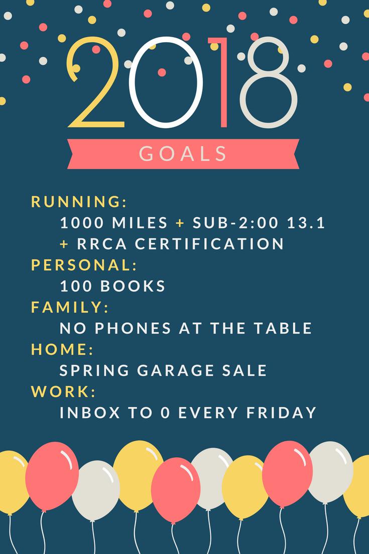 2018 Goals - Enjoying The Run