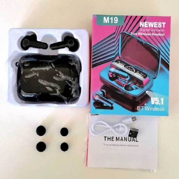 M19 Earbuds TWS Wireless Bluetooth 5.1 Headphones touch control
