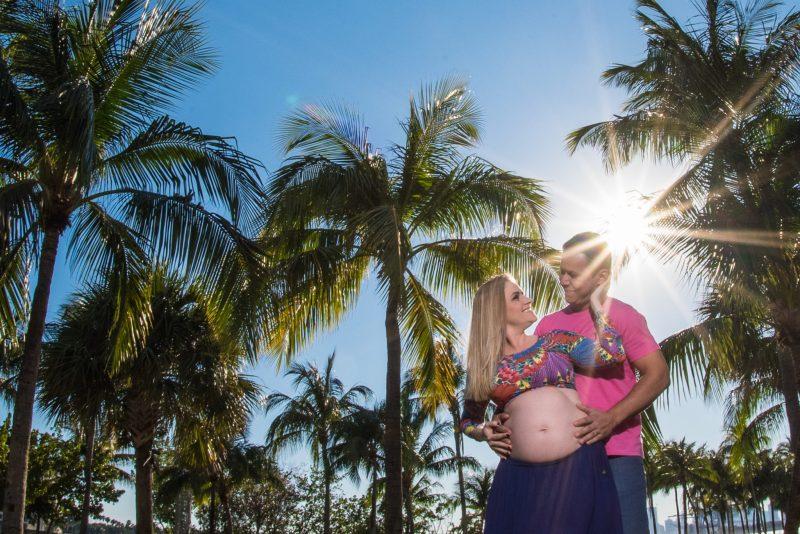 ensaio gestante em Miami