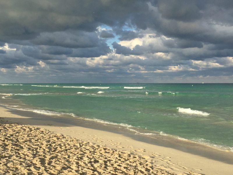 Miami Beach no Inverno - Foto tirada em fevereiro