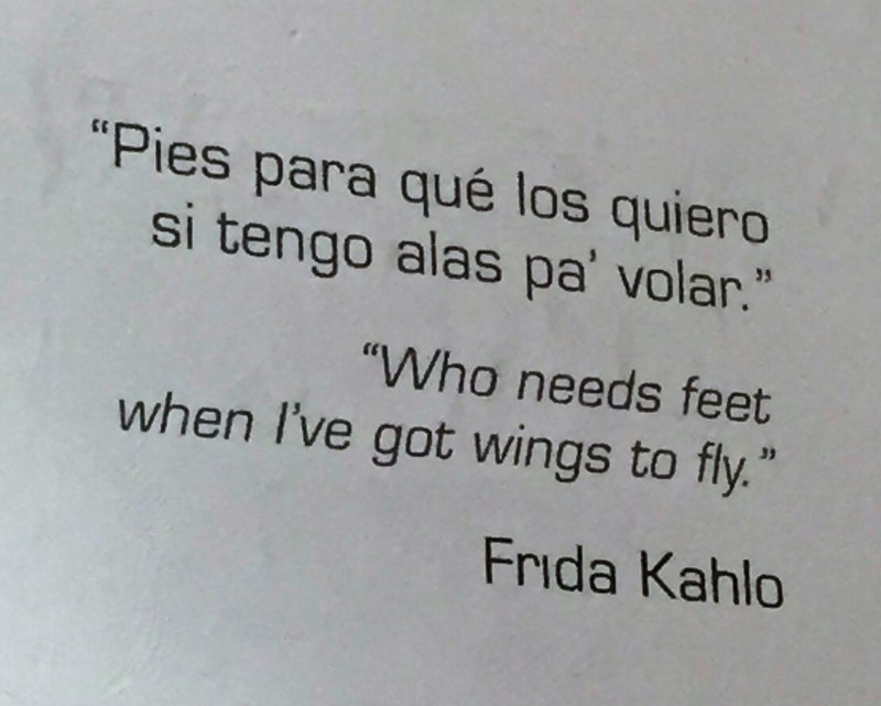 Célebre frase de Frida!