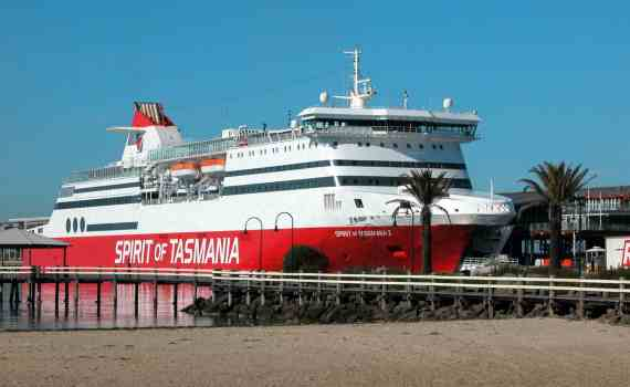 Tasmania is accessible by the Spirit of Tasmania vehicular ferry