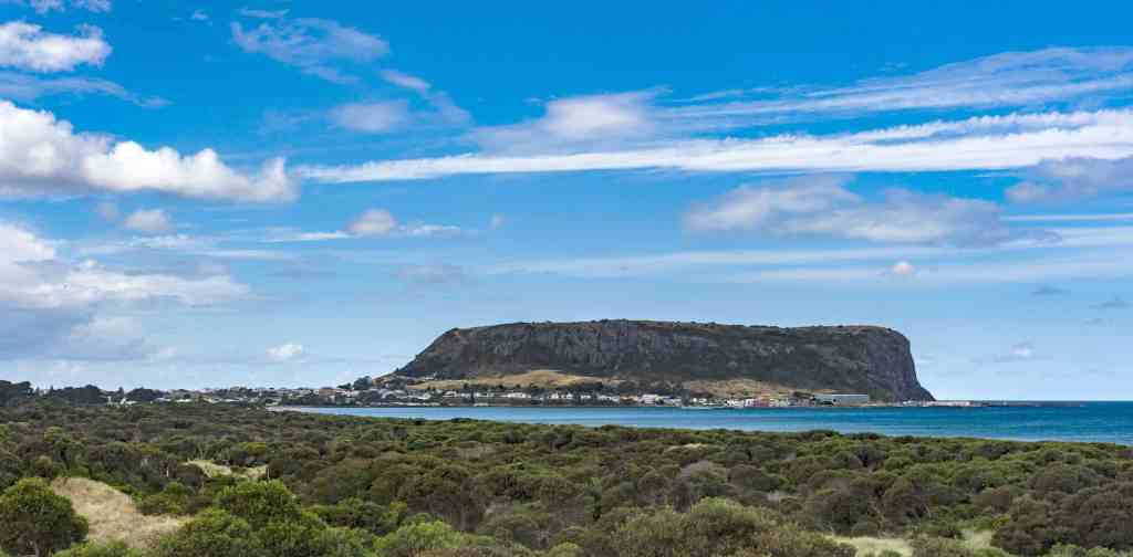 Stanley Nut is a volcanic plug that has formed a giant bluff. Picture: Steven Penton