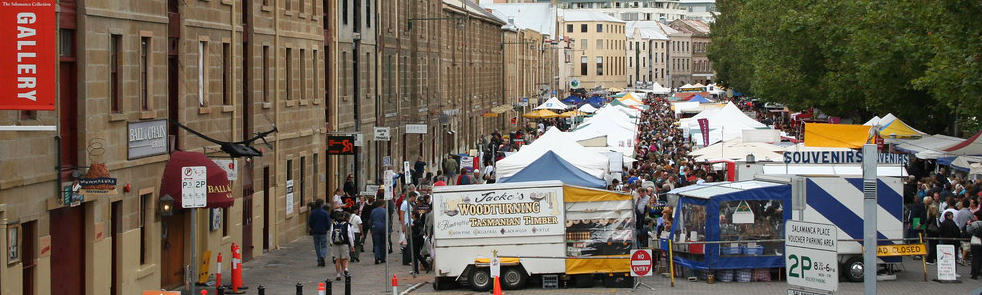 Hobart's famous Salamanca Markets. Picture: Rhettro Photography