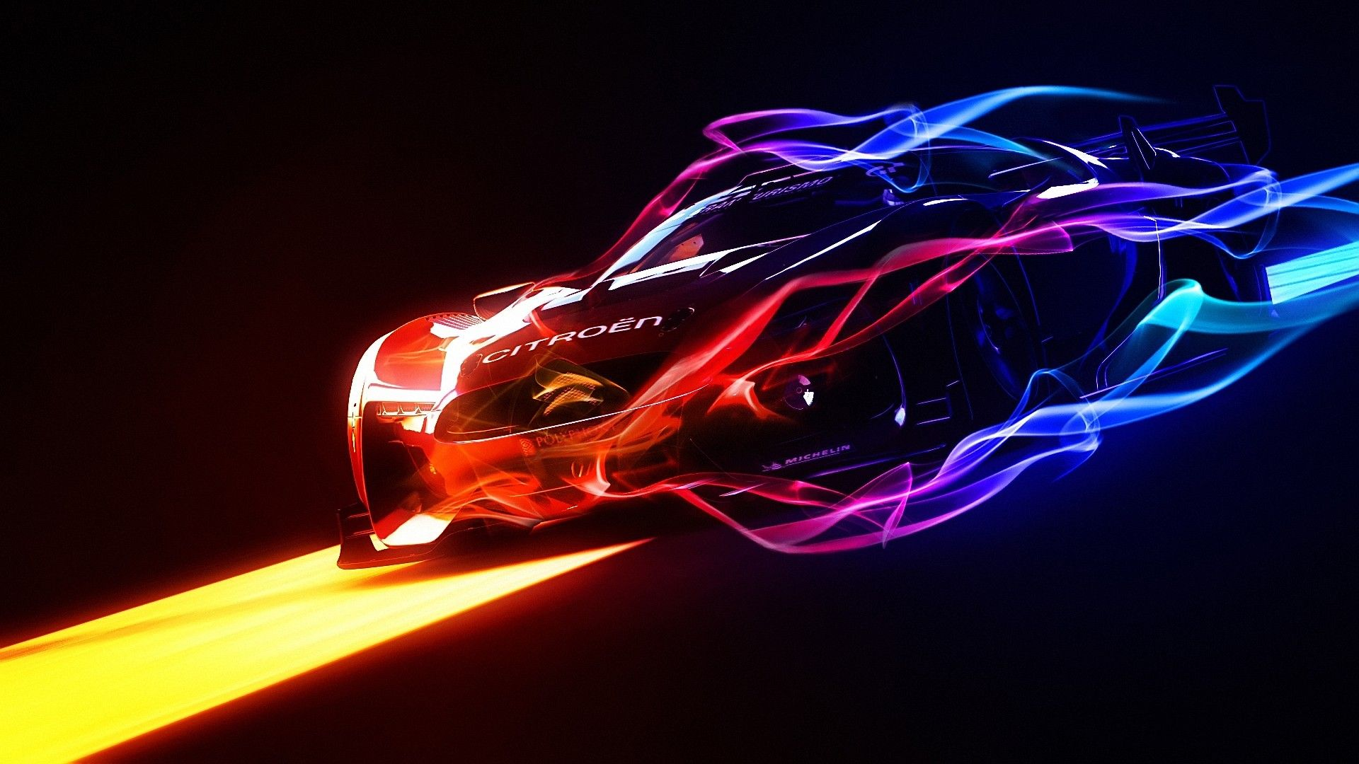 Mazda neon car is part of the creative & Cool Iphone Cars Wallpaper Enjpg