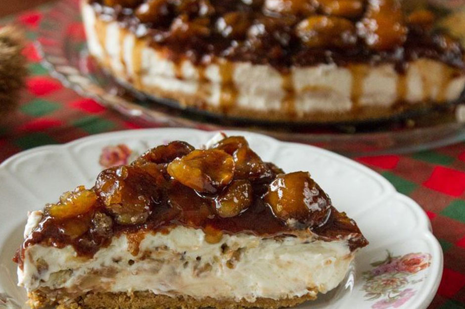 A Delicious Combination of honey and chestnut: Cheesecake