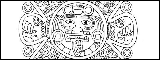 Gravure aztèque