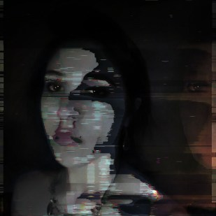 glitch art protrait