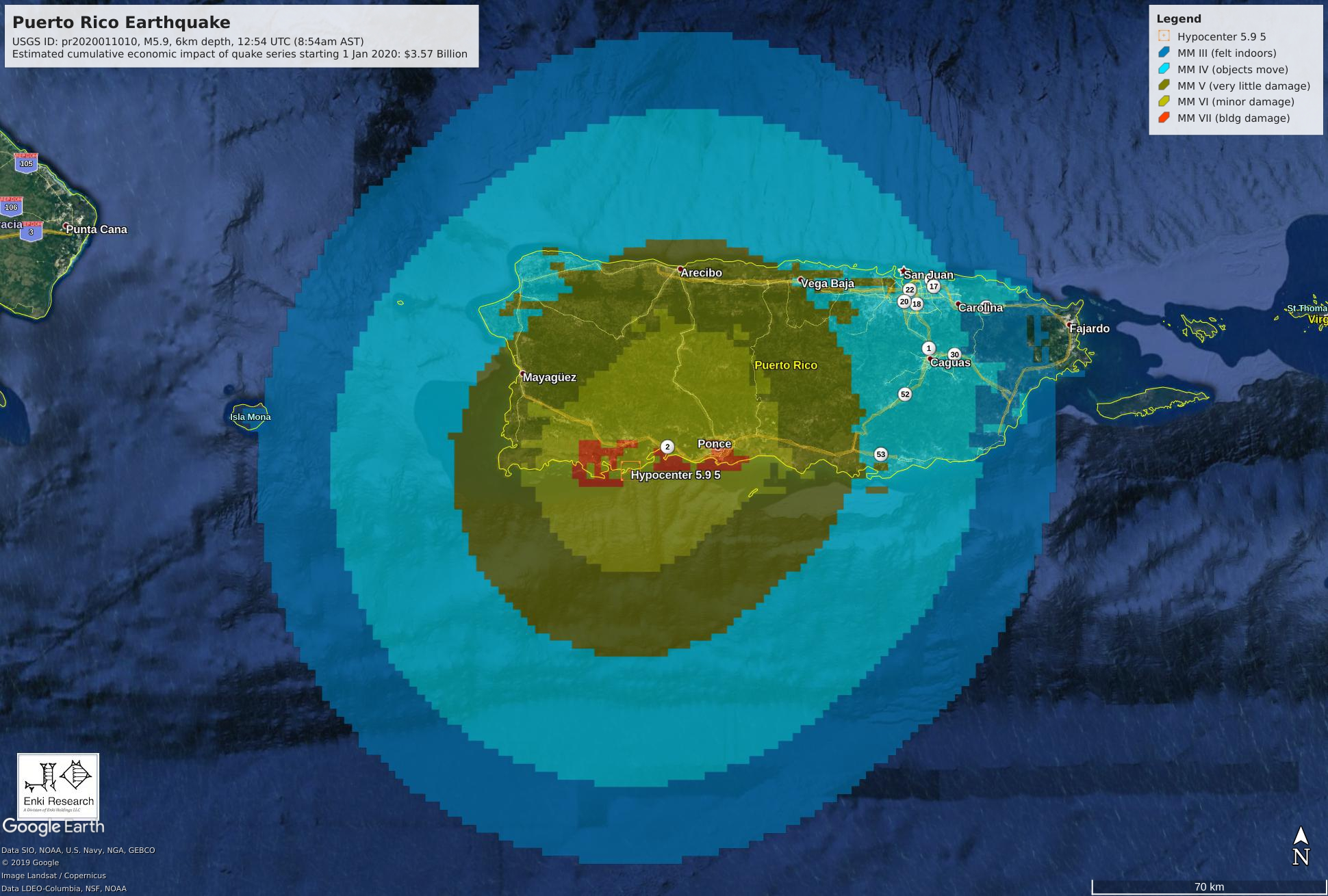 Another Strong Earthquake In Puerto Rico Sat 11 Jan 2020 Enki